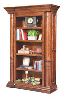Paris Bookcase | Cherry in Chocolate Spice FC-9090 | 54in W x 18 3/4in D x 81 3/4in H | The Amish Home | Amish Furniture at the Pittsburgh Mills