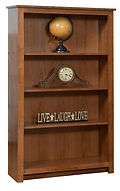 Nelson's Economy Bookcase | Rustic Cherry in S-14 OCS108 | 36in W x 13 1/2in D x 60in H | The Amish Home | Amish Furniture at the Pittsburgh Mills