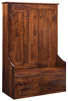 Sedona Gun Cabinet | Brown Maple in Coffee OCS226 | 48in W x 22 3/4in D x 72 3/4in H | The Amish Home | Amish Furniture at the Pittsburgh Mills