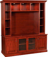 Birmingham Entertainment Center|Brown Maple in Acres 106|86 1/2in W x 22in D x 85 1/4in H|The Amish Home|Amish Furniture at the Pittsburgh Mills