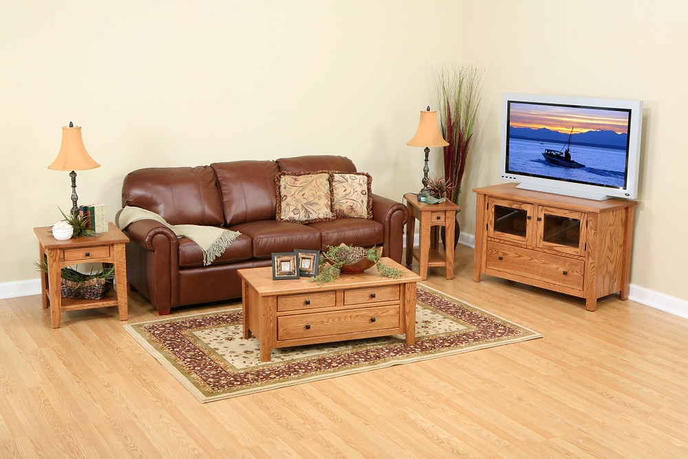 The Park Place Collection is shown in brown maple