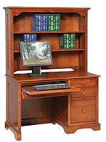 Elegance Computer Desk|Brown Maple in Acres OCS106|48in W x 24in D x 67in H|The Amish Home|Amish Furniture at the Pittsburgh Mills