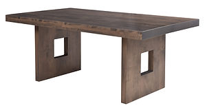 Galena Dining Table | Brown Maple in Smoke OCS121 | Many Sizes Available | The Amish Home | Amish Furniture at the Pittsburgh Mills