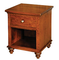 Duchess 1 Drawer Nightstand|Rustic Cherry in Asbury OCS117|21 1/2in W x 20 5/8in D x 27in H|The Amish Home|Amish Furniture at the Pittsburgh Mills