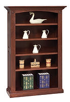 Premium Raised Panel Bookcase|Cherry in Boston OCS111|41in W x 15 1/4in D x 36in H|The Amish Home|Amish Furniture at the Pittsburgh Mills