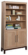 Vienna Bookcase with optional doors | Hard Maple in Two-toned | Many Sizes Available | The Amish Home | Amish Furniture at the Pittsburgh Mills