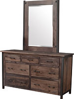 Structura Low Dresser|Rustic Smooth Brown Maple in Coffee OCS226|62in W x 21in D x 35in H|The Amish Home|Amish Furniture at the Pittsburgh Mills