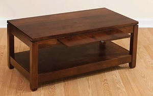 Antigo Coffee Table|Brown Maple in Rich Tobacco OCS228|36in W x 36in D x 18in H|The Amish Home|Amish Furniture at the Pittsburgh Mills