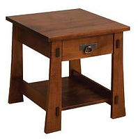 Monterey End Table | Brown Maple in Asbury OCS117 | 22in W x 24in D x 24in H | The Amish Home | Amish Furniture at the Pittsburgh Mills
