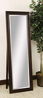 Chestnut Ridge Leaner Mirror with Support|Brown Maple in Onyx OCS230|21 3/4in W x 13 1/2in D x 67 3/4in H|The Amish Home|Hardwood Furniture at the Pittsburgh Mills