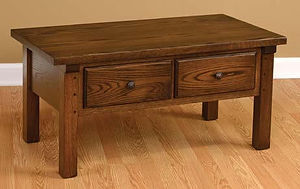 Butler Coffee Table|Oak in Asbury OCS117|42in W x 22in D x 20in H|The Amish Home|Amish Furniture at the Pittsburgh Mills