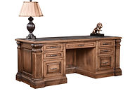 Montereau Executive Desk with optional Corian inlay | Brown Maple in Rock Tavern | 78in W x 32in D x 30 1/2in H | The Amish Home | Amish Furniture at the Pittsburgh Mills