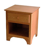 Jonas's Shaker 1 Drawer Nightstand|Oak in Seely OCS104|22in W x 19in D x 25in H|The Amish Home|Amish Furniture at the Pittsburgh Mills