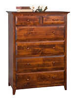 English Shaker Bureau|Brown Maple in Michaels OCS113|39in W x 20in D x 53in H|The Amish Home|Hardwood Furniture at the Pittsburgh Mills