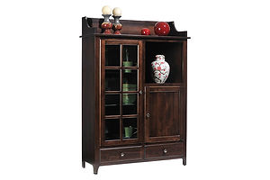 Lexington Shaker Pottery Pantry|Brown Maple in Coffee OCS226|43in W x 16in D x 61in H|The Amish Home|Amish Furniture at the Pittsburgh Mills
