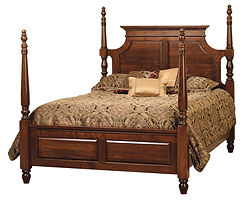 Wilkshire Bed|Rustic Cherry in Boston OCS111|Headboard 68in H, footboard 58in H|The Amish Home|Amish Furniture at the Pittsburgh Mills