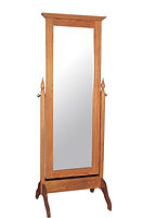 Jonas's Shaker Cheval Mirror|Oak in Seely OCS104|28in W x in D x 76in H|The Amish Home|Amish Furniture at the Pittsburgh Mills