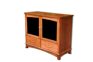 Crescent TV Stand|Cherry in S-14 OCS108|48in W x 20 3/4in D x 39in H|The Amish Home|Amish Furniture at the Pittsburgh Mills