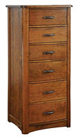 Meridian Lingerie Chest|Rustic Cherry in Seely OCS104|24 7/8in W x 20 5/8in D x 58in H|The Amish Home|Amish Furniture at the Pittsburgh Mills