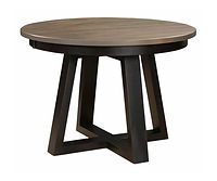 Koehler Road Round Dining Table | Brown Maple in Two-toned | Many Sizes Available | The Amish Home | Amish Furniture at the Pittsburgh Mills