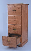 Heirwood Four-Drawer File Cabinet | Available in Traditional, Mission, or Shaker style | Oak in Fruitwood OCS102 | 21 1/4in W x 24in D x 55 1/4in H | The Amish Home | Amish Furniture at the Pittsburgh Mills