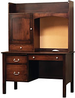 Rivertowne Desk with Hutch | Brown Maple in Rich Tobacco OCS228 | 48in W x 24in D x 66 1/2in H | The Amish Home | Amish Furniture at the Pittsburgh Mills