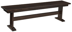 Millcreek Bench | Brown Maple in Cocoa OCS122 | Many Sizes Available | The Amish Home | Amish Furniture at the Pittsburgh Mills