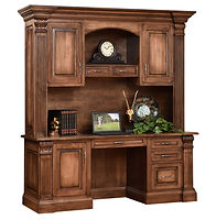 Montereau Credenza Desk with optional hutch | Brown Maple in Rock Tavern | 81in W x 24 1/4in D x 85 1/4in H | The Amish Home | Amish Furniture at the Pittsburgh Mills
