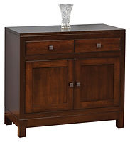 Hampton Meadow 2 Door Buffet|Brown Maple in Rich Tobacco OCS228|38in W x 18 1/2in D x 35in H|The Amish Home|Amish Furniture at the Pittsburgh Mills