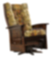 Deluxe Mission Jumbo Swivel Glider | Brown Maple in Asbury OCS117 | 44in H | The Amish Home | Amish Furniture at the Pittsburgh Mills