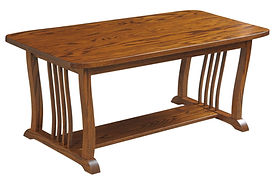 70 Mission Coffee Table| in |48in W x 23in D x 21in H|The Amish Home|Amish Furniture at the Pittsburgh Mills