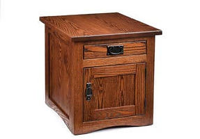 Mission Enclosed Large End Table| in |20in W x 26in D x 22in H|The Amish Home|Amish Furniture at the Pittsburgh Mills