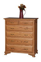 Crown Villa Chest of Drawers|Oak in Seely OCS104|39in W x 20in D x 45in H|The Amish Home|Hardwood Furniture at the Pittsburgh Mills