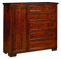 Farmhouse Man's Chest|Rustic Cherry in Asbury OCS117|56 1/2in W x 20in D x 52 1/2in H|The Amish Home|Hardwood Furniture at the Pittsburgh Mills