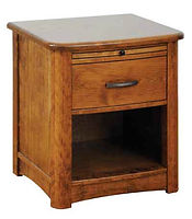 Meridian 1 Drawer Nightstand|Rustic Cherry in Seely OCS104|22in W x 20 5/8in D x 26in H|The Amish Home|Amish Furniture at the Pittsburgh Mills