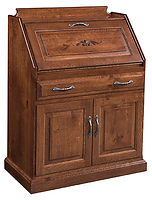 Ray's Secretary Desk with Doors | Cherry in Washington OCS107 | 31 1/2in W x 25 1/2in D x 42 1/2in H | The Amish Home | Amish Furniture at the Pittsburgh Mills