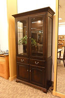 Millcreek Dining Cabinet | Brown Maple in Rich Tobacco OCS228 | 39 1/4in W x 16 1/2in D x 79 1/2in H | The Amish Home | Amish Furniture at the Pittsburgh Mills