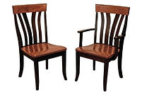 Lennox Dining Chair|Shown with Wood Seat and Two-Tone Finish.The Amish Home|Amish Furniture at the Pittsburgh Mills
