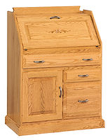 Secretary Desk with File Drawer|Oak in MX OCS103|31 1/2in W x 16 1/2in D x 43in H|The Amish Home|Amish Furniture at the Pittsburgh Mills
