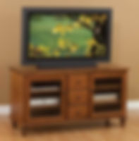 London TV Stand|Cherry in S-14 OCS108|56in W x 20in D x 30in H|The Amish Home|Hardwood Furniture at the Pittsburgh Mills