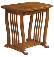 70 Mission End Table|Oak in Michaels OCS113|27in W x 18in D x 24 3/4in H|The Amish Home|Amish Furniture at the Pittsburgh Mills