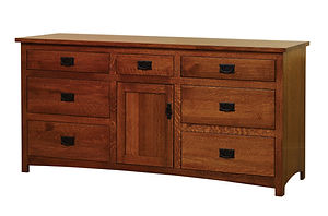 Michael's Mission 72in Dresser|Quartersawn White Oak in Michaels OCS113|70in W x 21 1/2in D x 34in H|The Amish Home|Amish Furniture at the Pittsburgh Mills
