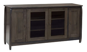 Apache TV Stand|Brown Maple in Antique Slate OCS118|60in W x 18in D x 30in H|The Amish Home|Amish Furniture at the Pittsburgh Mills