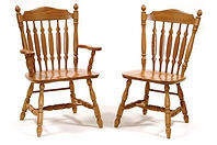 Royal Dining Chair|Oak in Seely OCS104 | Shown with Wood Seat.|The Amish Home|Amish Furniture at the Pittsburgh Mills