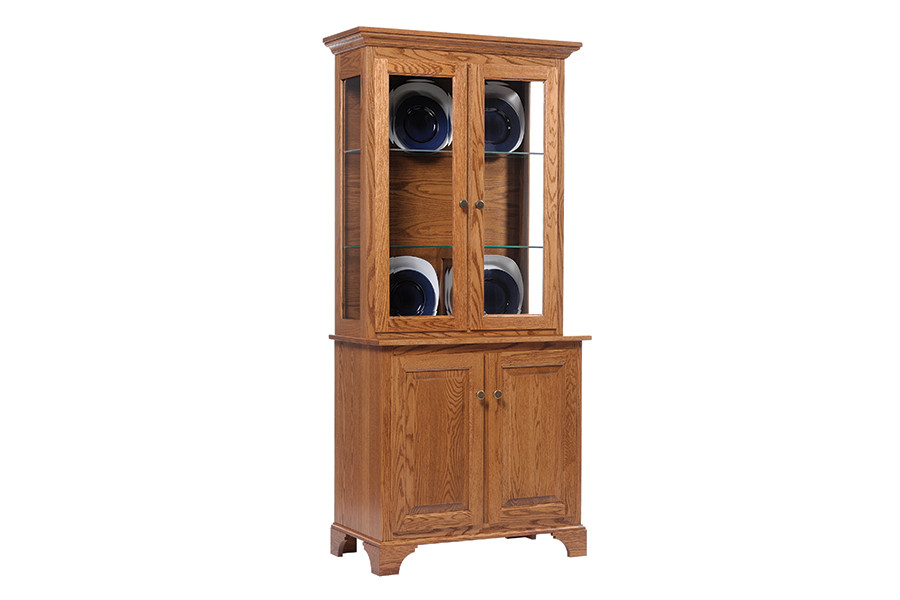 Solid oak china cabinet - American Classics small china cabinet with two doors