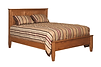 English Shaker Panel Bed with low footboard|Oak in Seely OCS104|Headboard 52 3/4in H, footboard 18 3/4in H|The Amish Home|Amish Furniture at the Pittsburgh Mills
