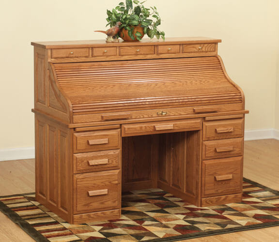 62in Traditional Roll Top Desk