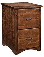 Wayne's Shaker 2 Drawer File Cabinet|Rustic Cherry in Medium OCS110|20 1/4in W x 22in D x 31in H|The Amish Home|Amish Furniture at the Pittsburgh Mills
