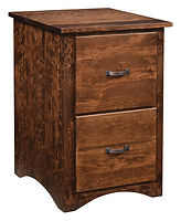 Wayne's Shaker Two-Drawer File Cabinet | Rustic Cherry in Medium OCS110 | 20 1/4in W x 22in D x 31in H | The Amish Home | Amish Furniture at the Pittsburgh Mills