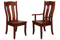 Austin Dining Chair|Oak in Boston OCS111 | Shown with wood seat.|The Amish Home|Amish Furniture at the Pittsburgh Mills